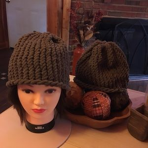 Two Hand Knitted Hats